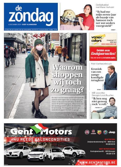 Cover De Zondag regio Oost-Vlaanderen
